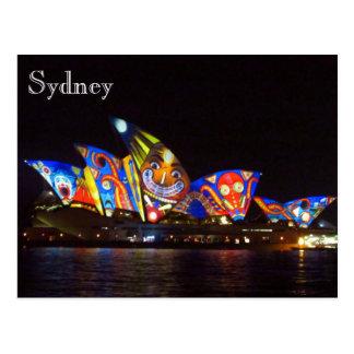 opera house vivid fun postcard
