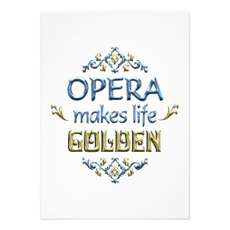 OPERA is Golden Custom Announcements