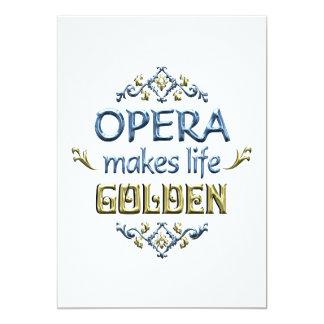 OPERA is Golden 13 Cm X 18 Cm Invitation Card