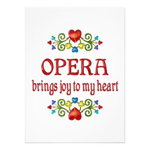 Opera Joy Custom Invitation