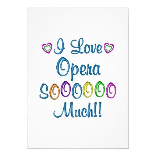 Opera Love So Much Invitation