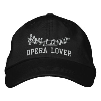 Opera Lover Embroidered Music Hat Embroidered Baseball Caps