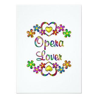 Opera Lover 14 Cm X 19 Cm Invitation Card