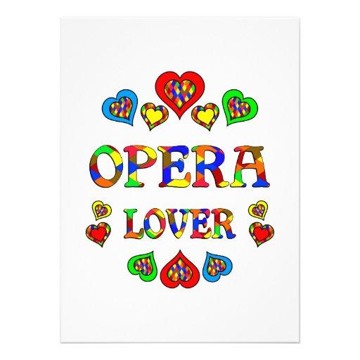Opera Lover Custom Invitation