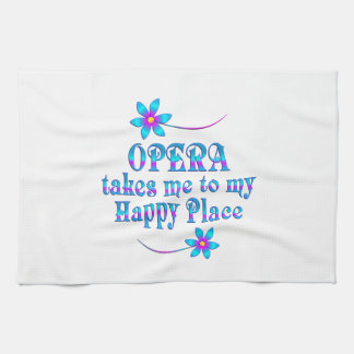 Opera My Happy Place Tea Towel