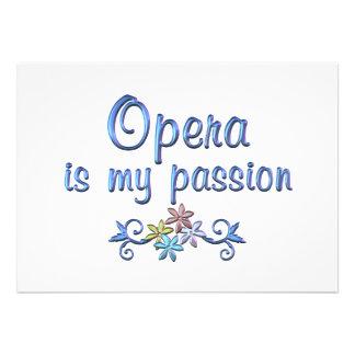 Opera Passion Custom Invites