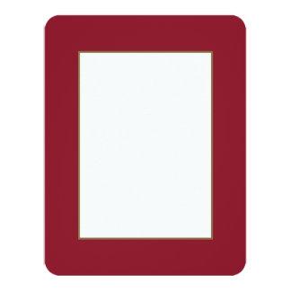 Opera Red-Ruby Crimson Red-French Chateau Wedding 11 Cm X 14 Cm Invitation Card