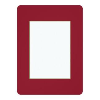 Opera Red-Ruby Crimson Red-French Chateau Wedding 14 Cm X 19 Cm Invitation Card