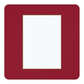 Opera Red-Ruby Crimson Red-French Chateau Wedding 13 Cm X 13 Cm Square Invitation Card