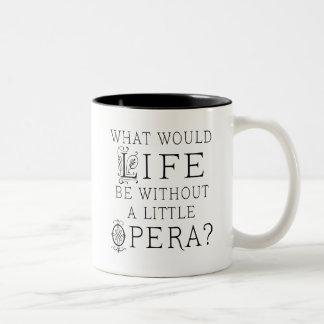 Opera Singer Gift Two-Tone Coffee Mug