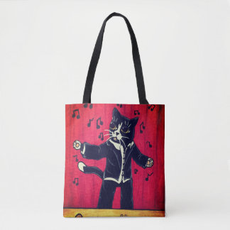 Opera Singing Cat Tote Bag