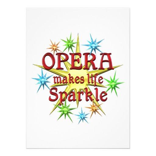 Opera Sparkles Custom Invitations