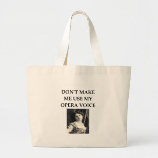 opera voice large tote bag