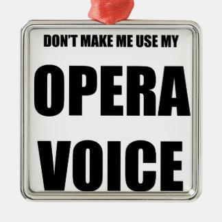 Opera Voice Metal Ornament