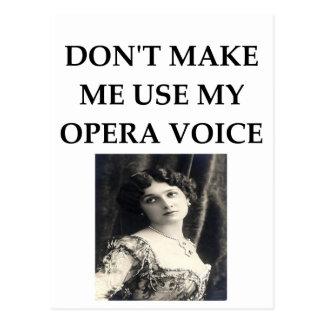 opera voice postcard