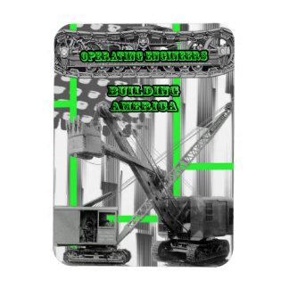 OPERATING ENGINEER CRANE OPERATOR SHOVEL VINTAGE MAGNET