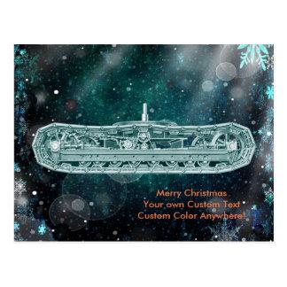 Operating Engineer Crane Operator Tracks Christmas Postcard
