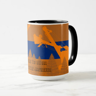 OPERATING ENGINEER CRANE SHOVEL WOODS VINTAGE ART MUG