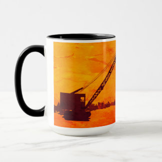 OPERATING ENGINEER ICE FISHING CRANE OPERATOR ART MUG