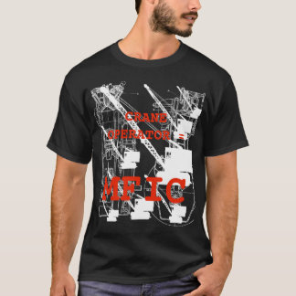 Operating Engineer = MFIC Vintage Crawler Crane T-Shirt