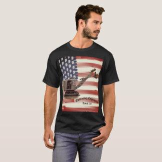 Operating Engineer Shovel US Flag Custom Local T-Shirt