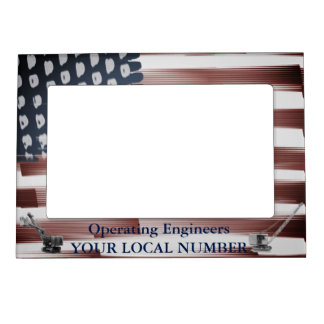 Operating Engineers  Flag Crane Operator Shovel Magnetic Picture Frame
