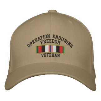 Operation Enduring Freedom Veteran Embroidered Baseball Cap
