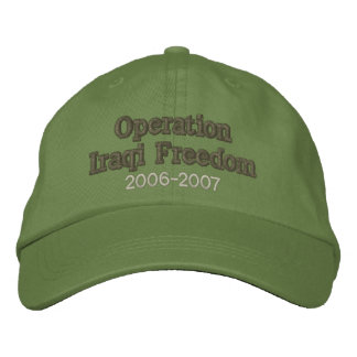 Operation Iraqi Freedom Embroidered Cap