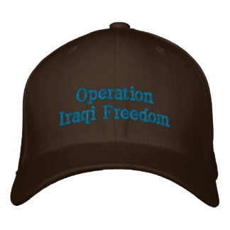 Operation Iraqi Freedom Personalized Embroidered Cap