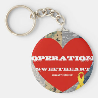 Operation Sweetheart Key Basic Round Button Key Ring
