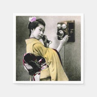 Operator Wont You Help Me Make This Call Geisha Disposable Napkin