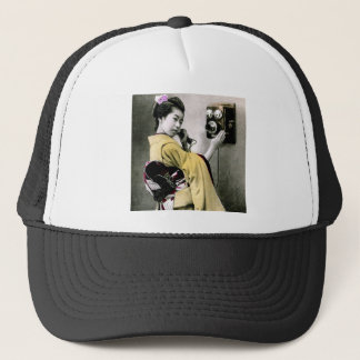 Operator Wont You Help Me Make This Call Geisha Trucker Hat