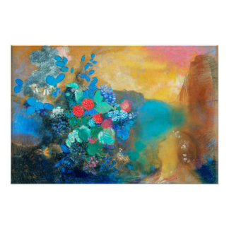 Ophelia Among the Flowers | Odilon Redon Poster