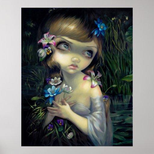 Ophelia ART PRINT Portrait of Ophelia gothic
