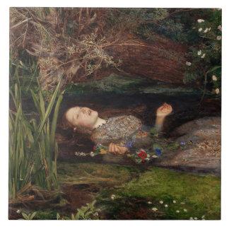 Ophelia by John Everett Millais Ceramic Tile
