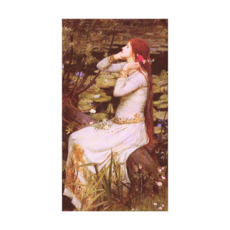 Ophelia by John William Waterhouse Canvas Print