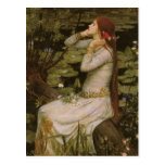 Ophelia (By the Pond) JW Waterhouse, Victorian Art Post Cards