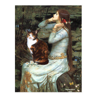 Ophelia - Calico cat Postcard