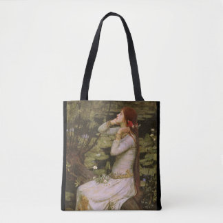 Ophelia Fair Maiden Medieval Tote Bag