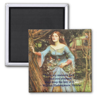 Ophelia Fine Art with Quotation Square Magnet