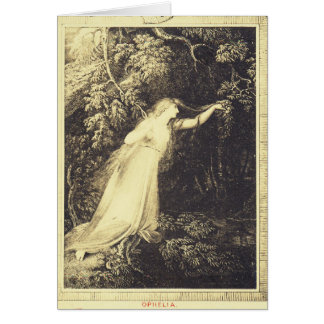 Ophelia from Hamlet Card