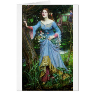 OPHELIA in the woods (insert your own image) Card