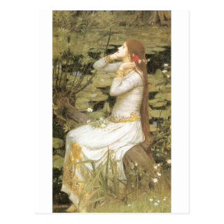 Ophelia  - John William Waterhouse  (1894) Postcard