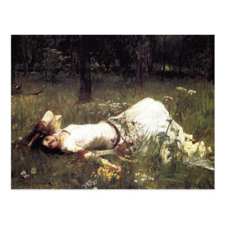 Ophelia Laying in the Meadow Postcard