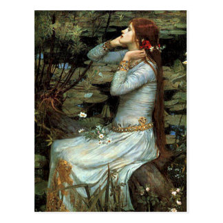 Ophelia seated - add your pet postcard