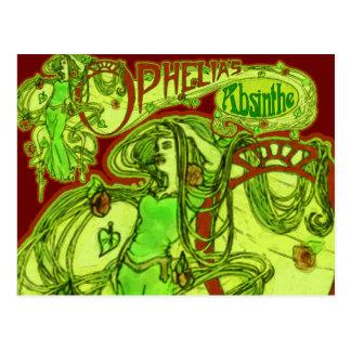 Ophelia's Absinthe Postcard