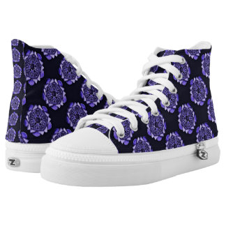 Ophiodeau Purple Printed Shoes