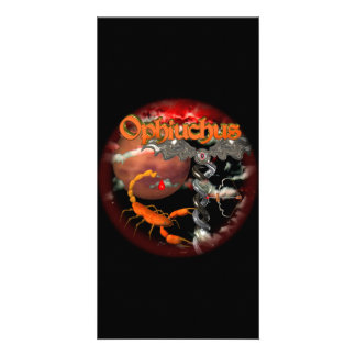 Ophiuchus goth zodiac sign by Valxart com Photo Card Template