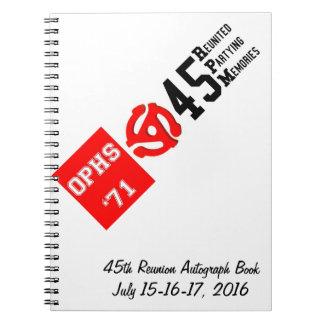 OPHS '71 45rpm Autograph Book/Notebook (80 Pgs) Notebook