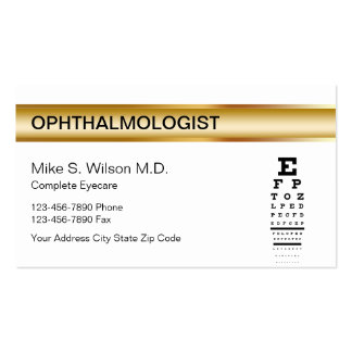 Ophthalmologist Business Cards